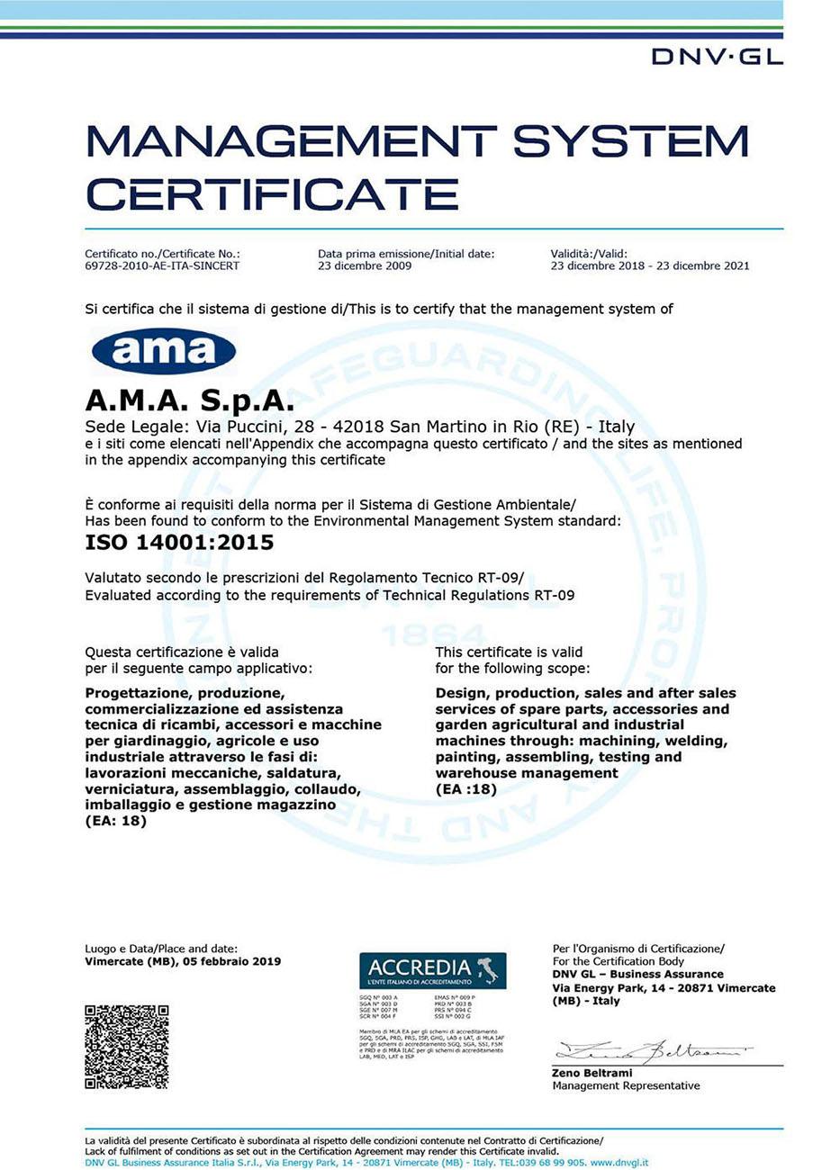 AMA ISO 14001