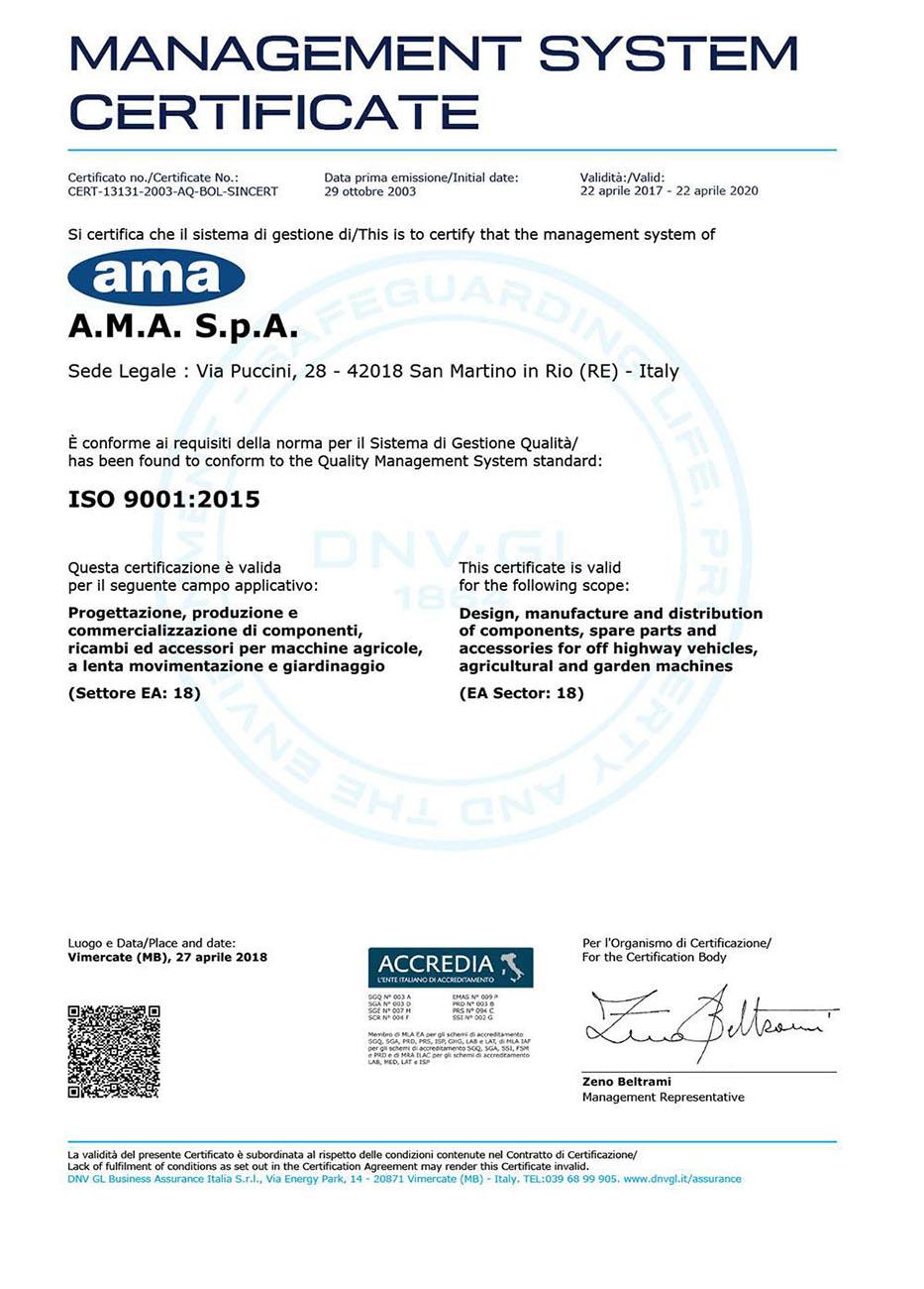AMA ISO 9001
